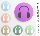 headphones badge color set....