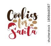 cookies for santa   christmas... | Shutterstock .eps vector #1808668387