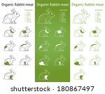 organic rabbit meat parts icon... | Shutterstock . vector #180867497