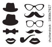 retro hipster set   Shutterstock .eps vector #180867827