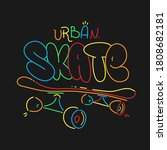 skate board typography print  t ... | Shutterstock .eps vector #1808682181