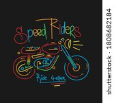 cool motorcycle print shirt... | Shutterstock .eps vector #1808682184
