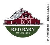 Red Barn Vector Illustration In ...