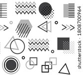 memphis style with geometric... | Shutterstock . vector #1808700964