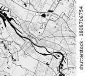 Urban city map of Bremen. Vector illustration, Bremen map art poster. Street map image with roads, metropolitan city area view.