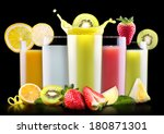 set of tasty summer fruits with ... | Shutterstock . vector #180871301