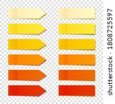 realistic orange sticky notes... | Shutterstock .eps vector #1808725597