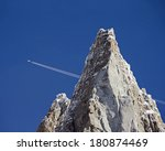 french alps mountain peak and...