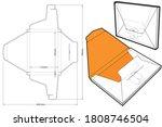 packaging envelope 29 7x21x2cm... | Shutterstock .eps vector #1808746504