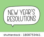 new year's resolutions... | Shutterstock .eps vector #1808753461