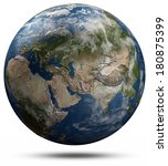 earth globe   eurasia. elements ... | Shutterstock . vector #180875399