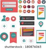 flat web app graphics