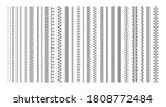 vector sewing machine stitches. ... | Shutterstock .eps vector #1808772484
