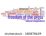 freedom of the press issues and ... | Shutterstock . vector #180878639