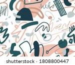 geometric vector scribbled...   Shutterstock .eps vector #1808800447