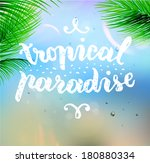 summer design. blur beach... | Shutterstock .eps vector #180880334