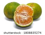 Two Tangerines  Half  White...