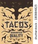 tacos   grunge   vintage vector ... | Shutterstock .eps vector #180884825