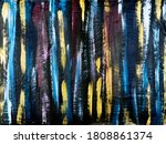 colorful bright stripes  brush... | Shutterstock . vector #1808861374