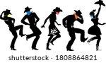 black vector silhouette of...   Shutterstock .eps vector #1808864821