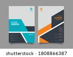 flyer template. brochure for... | Shutterstock .eps vector #1808866387