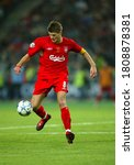 Small photo of Istanbul, TURKEY - May 25, 2005: Steven Gerrard in action during the UEFA Champions League final 2004/2005 AC Milan v Liverpool at the Ataturk Olympic Stadium.