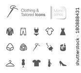 clothing related icons. | Shutterstock .eps vector #180888431