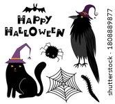 Cute Halloween Magic Animals In ...