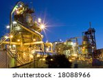 a refinery at night. | Shutterstock . vector #18088966