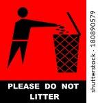 do not litter   Shutterstock .eps vector #180890579