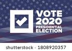 presidential election 2020 in...   Shutterstock .eps vector #1808920357