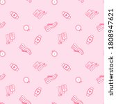 seamless pattern with running...