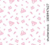seamless pattern with sport... | Shutterstock .eps vector #1808947627