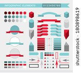 infographic elements  arrows... | Shutterstock .eps vector #180898619