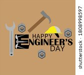 engineer day with helmet and... | Shutterstock .eps vector #1808998597
