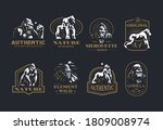 collection of vintage vector... | Shutterstock .eps vector #1809008974