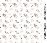 floral seamless pattern  lilies ... | Shutterstock .eps vector #1809086017