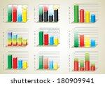business charts. set | Shutterstock .eps vector #180909941