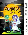 zombies love. married spooky...   Shutterstock .eps vector #1809114607