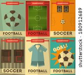 football posters collection.... | Shutterstock .eps vector #180912689