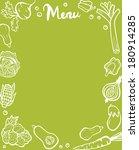 healthy vegetable menu template ... | Shutterstock .eps vector #180914285