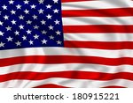 america flag waving in the wind.... | Shutterstock . vector #180915221