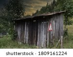Old Shed At A Cow Pasture In...