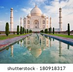 Beautiful Taj Mahal In Sunrise...