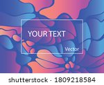 abstract wavy geometric... | Shutterstock .eps vector #1809218584