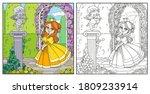 color cute princess  near...   Shutterstock .eps vector #1809233914