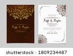 premium wedding invitation with ... | Shutterstock .eps vector #1809234487