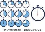 manual stopwatch chronograph ... | Shutterstock .eps vector #1809234721