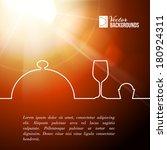 menu food design. vector... | Shutterstock .eps vector #180924311
