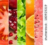 healthy food background....   Shutterstock . vector #180925319